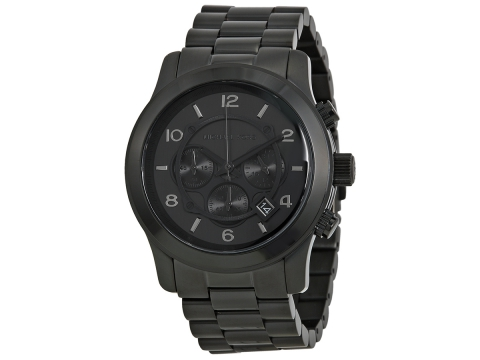 Ceasuri Barbati Michael Kors Blacked Out Runway Chronograph Men's Watch Black
