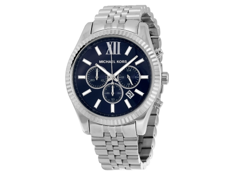 Ceasuri Barbati Michael Kors Lexington Chronograph Navy Dial Men's Watch Navy