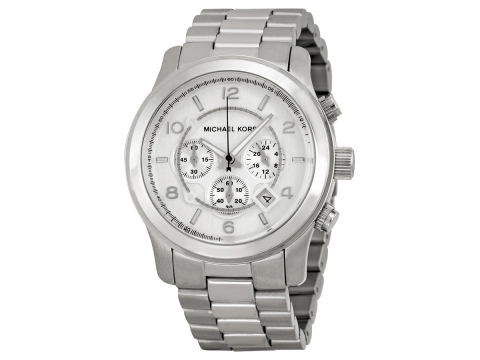 Ceasuri Barbati Michael Kors Silver Oversized Runway Watch Silver