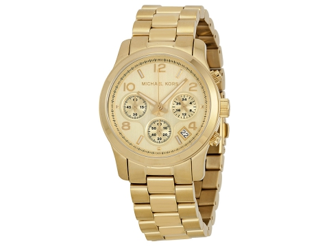Ceasuri Barbati Michael Kors Midsized Chronograph Gold-tone Unisex Watch Golden brushed