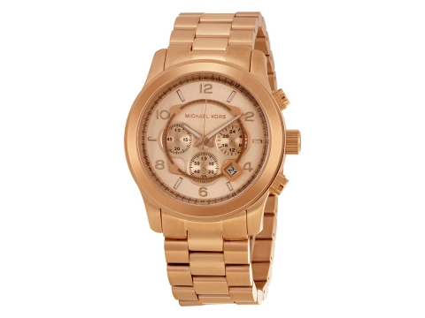 Ceasuri Barbati Michael Kors Runway Chronograph Rose Gold-tone Men's Watch Gold