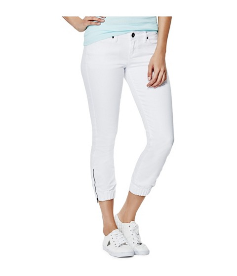 Imbracaminte Femei GUESS Julianne Skinny Denim Joggers in True White Wash true white