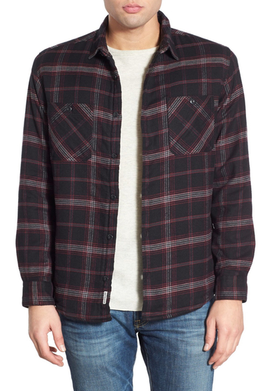 Imbracaminte Barbati Quiksilver Sane Rock Long Sleeve Regular Fit Flannel Shirt TARMAC