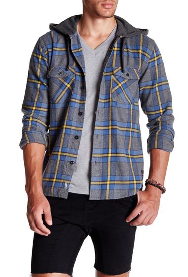Imbracaminte Barbati Quiksilver Rockyfist Long Sleeve Modern Fit Hooded Shirt BNC1-ROCKYFIST FEDER