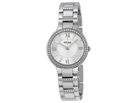 Ceasuri Femei Fossil Virginia Silver Dial Stainless Steel Ladies Watch Silver