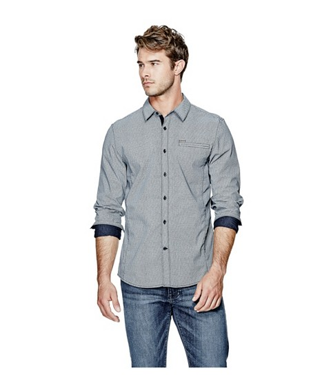 Imbracaminte Barbati GUESS Cowan Poplin Long-Sleeve Shirt ink