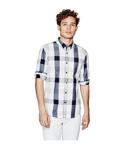 Imbracaminte Barbati GUESS Canter Long-Sleeve Plaid Shirt ink