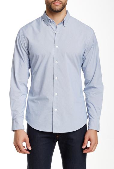 Imbracaminte Barbati Perry Ellis Long Sleeve Stripe Shirt BRIGHT WHITE