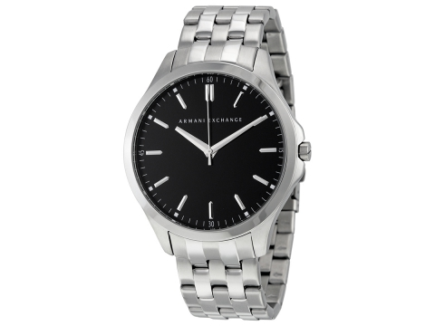 Ceasuri Barbati Armani Exchange Black Dial Stainless Steel Men's Watch Black