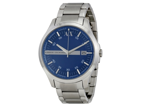 Ceasuri Barbati Armani Exchange Blue Textured Dial Stainless Steel Men's Watch Blue Textured