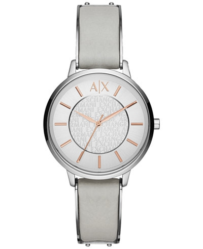 Ceasuri Femei Armani Exchange Olivia Silver Dial Ladies Dress Watch Silver