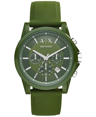 Ceasuri Barbati Armani Exchange Outerbanks Green Dial Men's Chronograph Watch Green