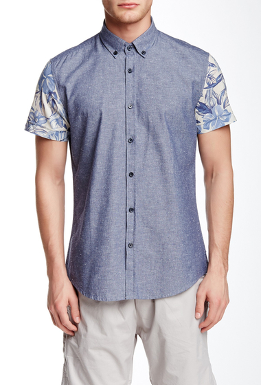 Imbracaminte Barbati Antony Morato Contrast Sleeve Slim Fit Shirt BLUE