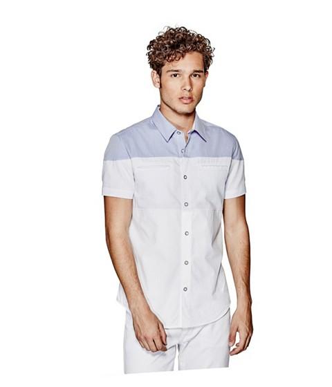 Imbracaminte Barbati GUESS Handel Short-Sleeve Poplin Shirt true white