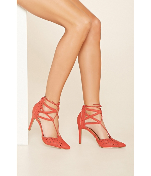 Incaltaminte Femei Forever21 MIA Melonie Lace-Up Pumps Red