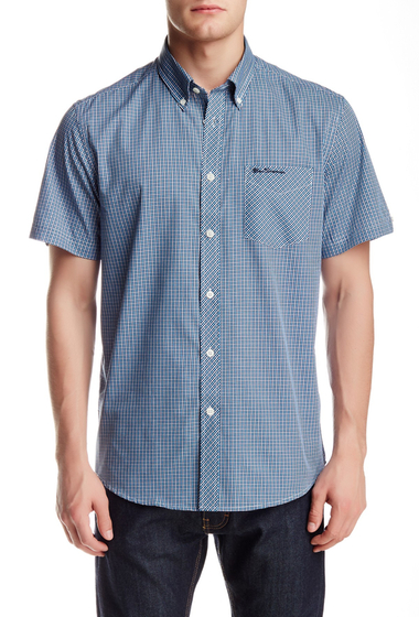 Imbracaminte Barbati Ben Sherman Checkered Woven Easy Fit Shirt BONNIE BLUE
