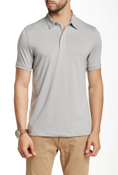 Imbracaminte Barbati Perry Ellis Spread Collar Polo CONCRETE