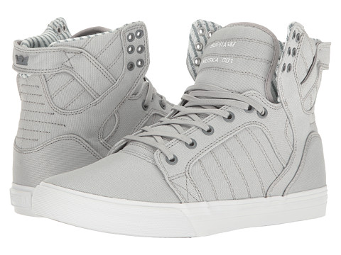 Incaltaminte Barbati Supra Skytop Light GreyWhite Canvas