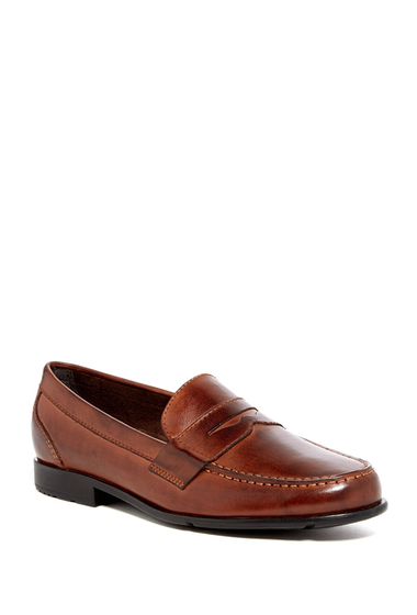 Incaltaminte Barbati Rockport Classic Penny Loafer - Wide Width Available BROWN