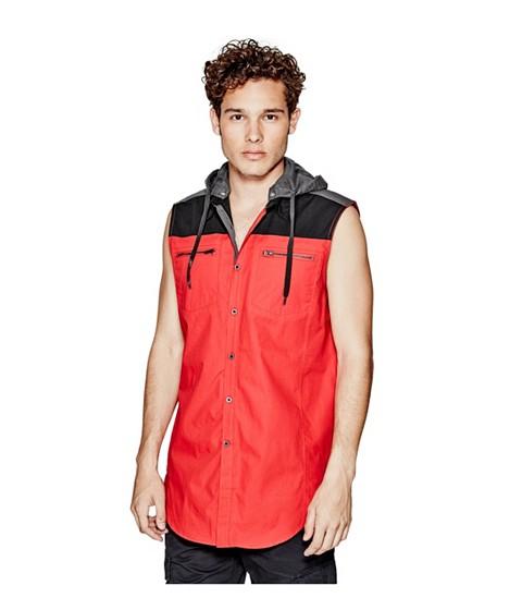 Imbracaminte Barbati GUESS Conall Shirt red hot