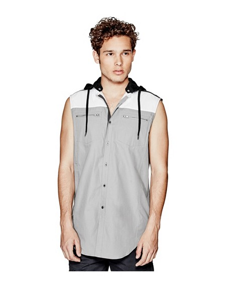 Imbracaminte Barbati GUESS Conall Shirt frost grey