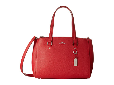 Genti Femei COACH Crossgrain Mini Double Zip Carryall SVTrue Red