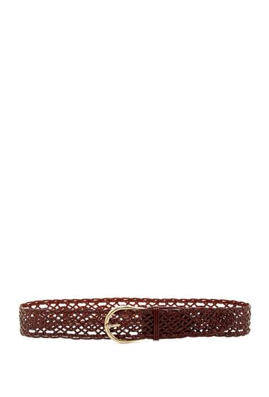 Accesorii Femei Steve Madden Leather Braided Pant Belt COGNAC