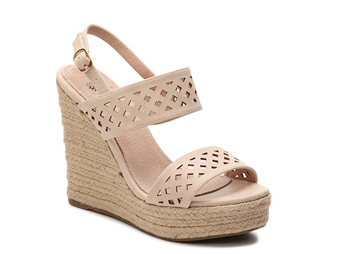 Incaltaminte Femei GC Shoes Katie Wedge Sandal Nude