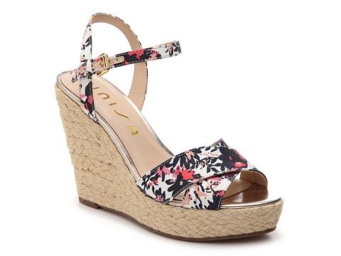 Incaltaminte Femei Unisa Rohzario Floral Wedge Sandal NavyWhitePink