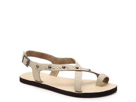 Incaltaminte Femei OTBT Conover Reptile Flat Sandal Ivory