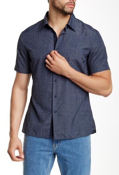 Imbracaminte Barbati Perry Ellis Short Sleeve Shirt DEPTH