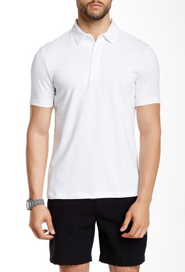 Imbracaminte Barbati Perry Ellis Solid Spread Collar Polo BRIGHT WHITE