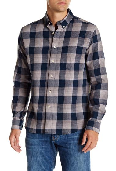 Imbracaminte Barbati Slate Stone Button Front Slim Fit Shirt BLUE BUFFA