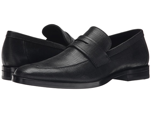 Incaltaminte Barbati Calvin Klein Karl Black Textured Leather