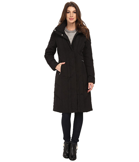 Imbracaminte Femei Calvin Klein Long Down Coat w Untrimmed Hood Black