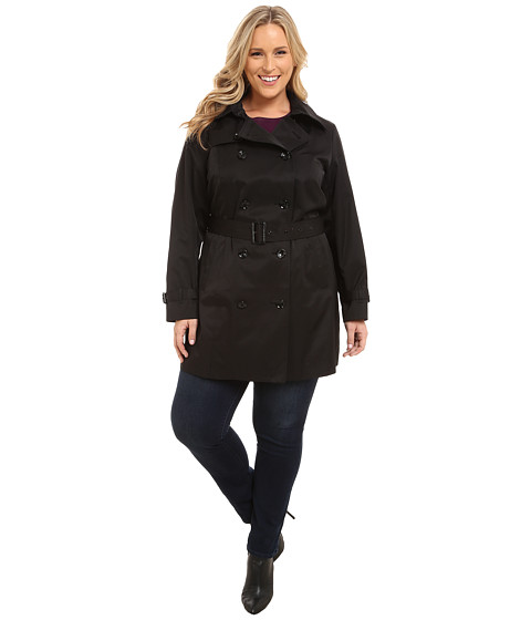 Imbracaminte Femei Michael Kors Plus Size Double-Breasted Trench Black