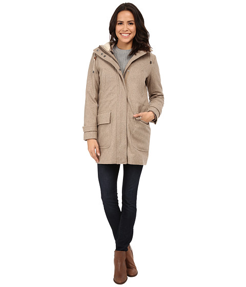 Imbracaminte Femei Cole Haan 4-in-1 Hooded Parka with Removable and Reversible Liner Bomber Jacket Maple Sugar