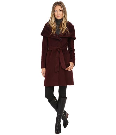 Imbracaminte Femei Cole Haan Belted Coat with Oversized Hood Zinfandel