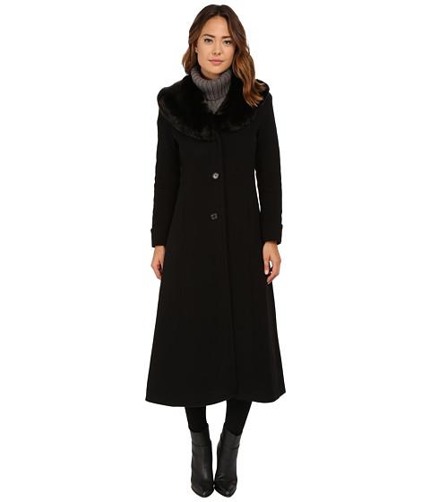 Imbracaminte Femei LAUREN Ralph Lauren Cashmere Blend Faux Fur Fit amp Flare Maxi Black