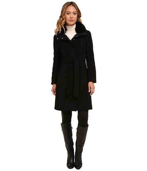 Imbracaminte Femei LAUREN Ralph Lauren Cashmere Blend Belted Faux Fur Collar Black
