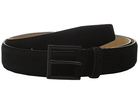 Accesorii Barbati Cole Haan 32mm Feather Edge Suede Belt with Embossing BlackBlack