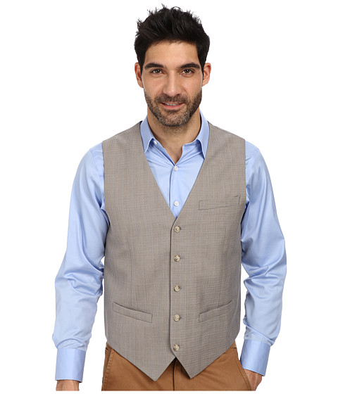 Imbracaminte Barbati Perry Ellis Slim Fit Travel Luxe Stripe Suit Vest Alloy