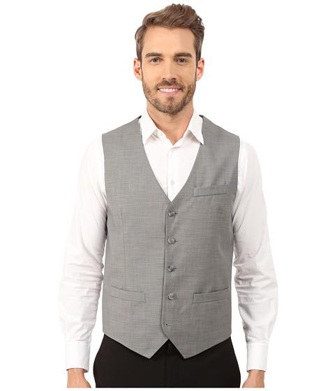Imbracaminte Barbati Perry Ellis Solid Texture Suit Vest Brushed Nickel