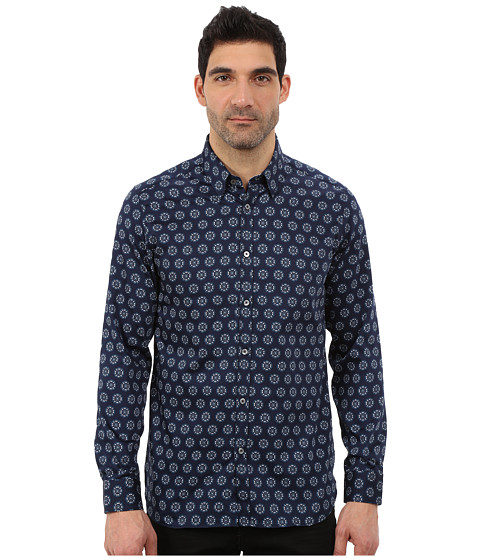 Imbracaminte Barbati Ted Baker Beastie Long Sleeve Large Spot Print Shirt Blue
