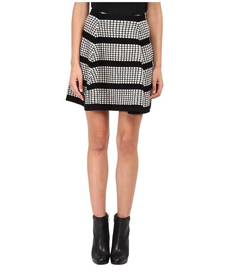 Imbracaminte Femei McQ 3D Stitch Flirty Skirt Off WhiteBlack