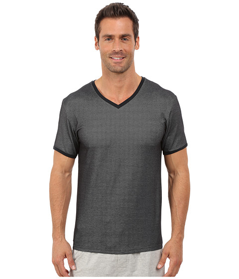 Imbracaminte Barbati Kenneth Cole Reaction Pique V-Neck Black