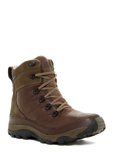 Incaltaminte Barbati The North Face Chilkat Leather Hiking Boot DEMITASSEBROWN-SHROOMBRWN