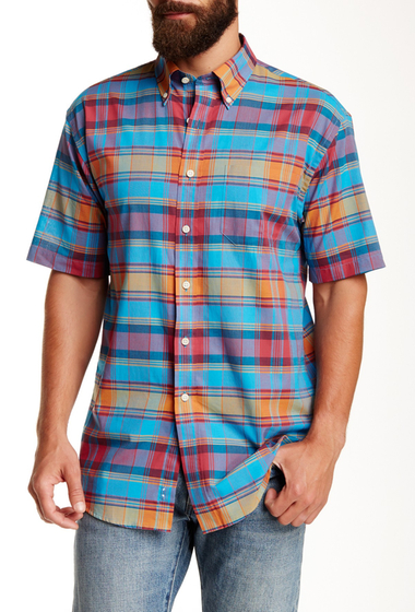 Imbracaminte Barbati Pendleton Short Sleeve Seaside Regular Fit Shirt TURQORNG