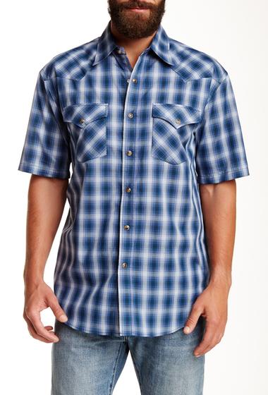 Imbracaminte Barbati Pendleton Short Sleeve Frontier Regular Fit Shirt BLUE