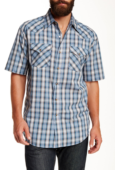 Imbracaminte Barbati Pendleton Short Sleeve Frontier Regular Fit Shirt AQUA